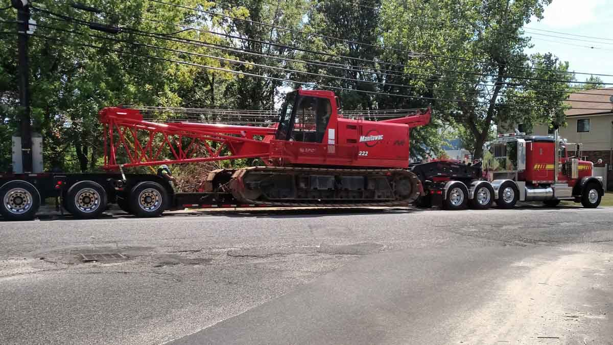 Heavy Equipment Hauling Central NJ